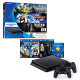 Ps4 Slim + 3 Juegos + 2 Controles Playstation Originales
