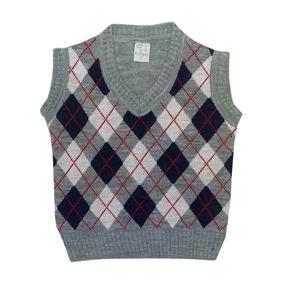 Pompas - Sweaters Para Chicos / Niños - Chaleco Rombos