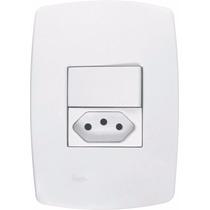Interruptor Simples E Tomada 10a Pérola Branca Radial C/ 5