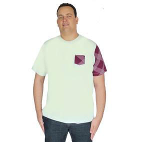 Camiseta Plus Size Basica Gola Careca Redonda Rec.diagonal