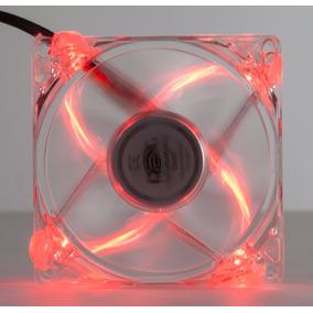 Cooler Fan 4 Led Vermelho 8cm 80mm Gabin Ventoinha Dx-8tvm