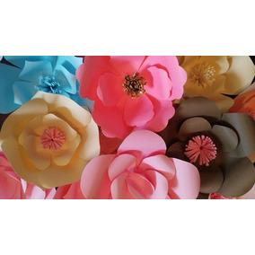 Flores De Papel Gigantes Paquete 15