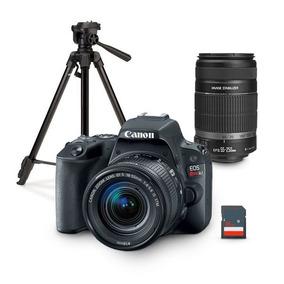 Kit Canon Eos Rebel Sl2 Con 2 Lentes + Tripie Y Memoria