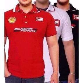Lote Com 10 Camisas Gola Ferrari Masculina Bordada Atacado