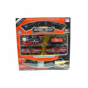 Set Tren Con Vagones Y Vias Model New Series Luz Y Sonidos