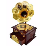 Caixinha De Musica Presente Vitrola Caixa Musical Gramofone