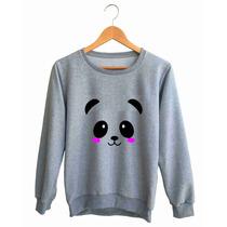 Moletom Careca Blusa De Frio Casaco Estampado Panda