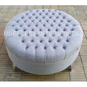 Puff banqueta redondo para vestidores muebles sillones for Muebles sillones capital federal
