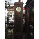 Antiguo Reloj De Pie Carrillon Con Llave Original