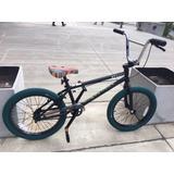 Bicicleta Bmx Gt Performer R20 Negro Y Verde - Thuway