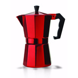 Cafetera Italiana Cafe Espresso 6 Tazas Roja *envio Gratis