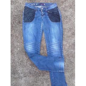 Calça Jeans Planet Girls Tamanho 36 Zipper Bolso E Na Barra