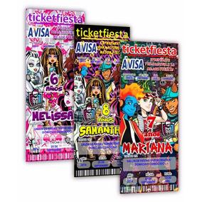 50 Invitaciones Impresas Monster High ¡en Oferta!