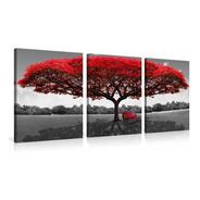 Fotografía Del Árbol Rojo Impresa En La Pintura De La L...