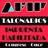 1 Talonario Factura, Recibo, Monotributo, Afip. Once / Cong.