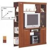 Mueble Modular Platinum Mogno 552 5 Cedro Para Tv 29 Pulg