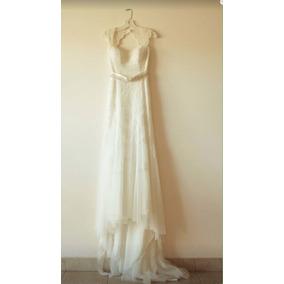 Vestidos de novia sencillos color manteca