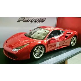 Burago - Ferrari 488 Gtb - Escala 1:18 De Metal - Nuevo