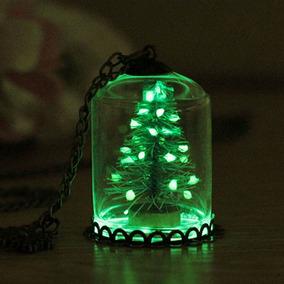 Collar Arbol De Navidad Brilla Oscuridad Santa Claus Nieve