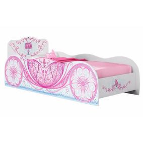 Cama Carruagem Branca E Rosa Móveis Estrela