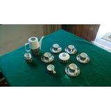 Juego Cafe Antiguo Porcelana Bohemia