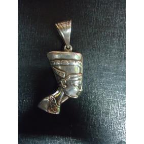 Cordão Corrente Pingente Prata - Nefertiti