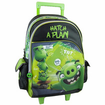Mochila Escolar Angry Birds Movie Negro Ab63601m Urbania