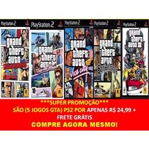 Gta San Andreas Grand Theft Auto Play 2 (kit 5 Jogos Ps2