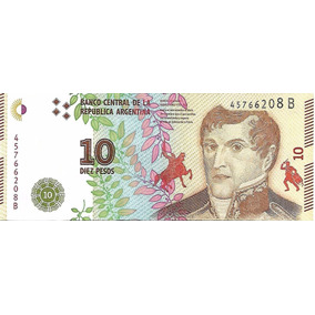 Billete Argentina $10 Año 2016 Serie B Sin Circular Palermo