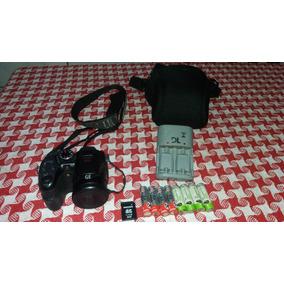 Câmera Digital Ge X500 16mp Sd 8gb 8 Pilhas E Carregador