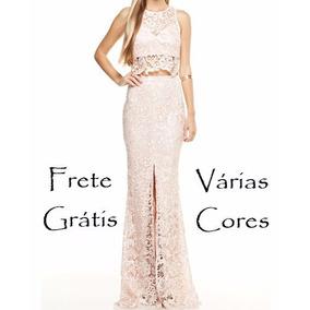 Top Cropped Saia Renda Guipir Noiva Sereia Vestido Madrinha