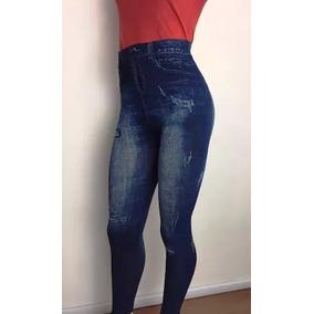 Kit 05 Tam U Leg Legging Estampa Calça Jeans Academia