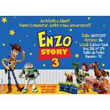 Arte Digital Criação Convite - Frete Grátis - Toy Story