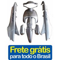 Kit Plásticos Carenagem Honda Biz +100 Prata 2005+adesivo