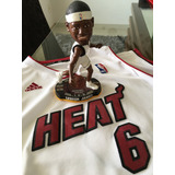 Kit Boneco Raro + Camisa Oficial Lebron James #6 Miami Heat
