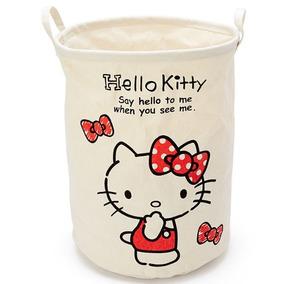 Hello Kitty Cesto De Lavanderia Tela