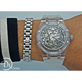 Reloj Audemar Piguet Esqueletizado Transparente+envio