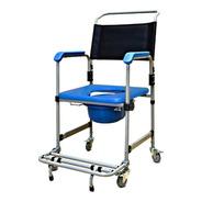 Cadeira Higiênica De Banho Em Aço D50 Dellamed