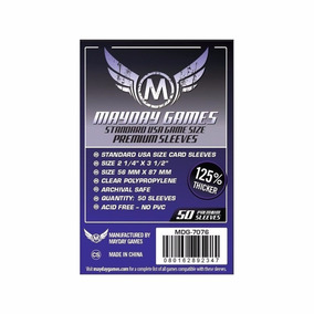 Fundas Cartas - Mayday Standard Usa Premium Sleeves 56x87 Mm