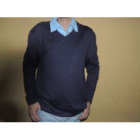 Sweater Nuevo De Hombre Color Azul Talla L Marca Bob