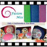Kit Zafu Almohadon Yoga + Colchoneta G.eva 8mm Fusión Mix