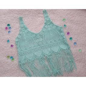 Crop Top Estilo Crochet Para Dama Envío Gratis Moda Verano