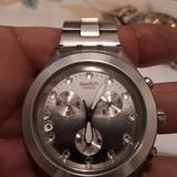 Reloj Swatch Cronografo Plateado Original