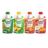 Happy Tot Organic Stage 4 Super Foods, Paquete De 4 Sabores