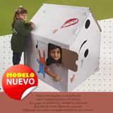 Casa De Juegos Gigante Cartón Armar Y Pintar Niños Juguetes