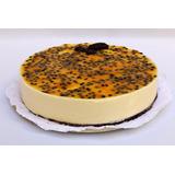 Torta Cheesecake Vegana / Vegetariana: Frutos Rojos Maracuyá