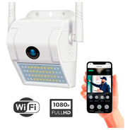 Cámara Seguridad Reflector Wifi 1080p Full Hd Exterior Audio