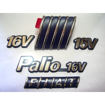 Kit Emblemas Palio 16v + 2x 16v + Capo + Mala 96/00 - Bre
