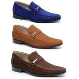 Sapato Masculino Azul Café Social Esporte Fino Couro Legítim