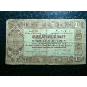 Rara Cédula Da Holanda 1 Gulden 1938 Zilberbon #0027